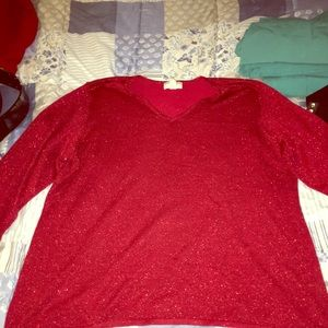 Sparkle red blouse
